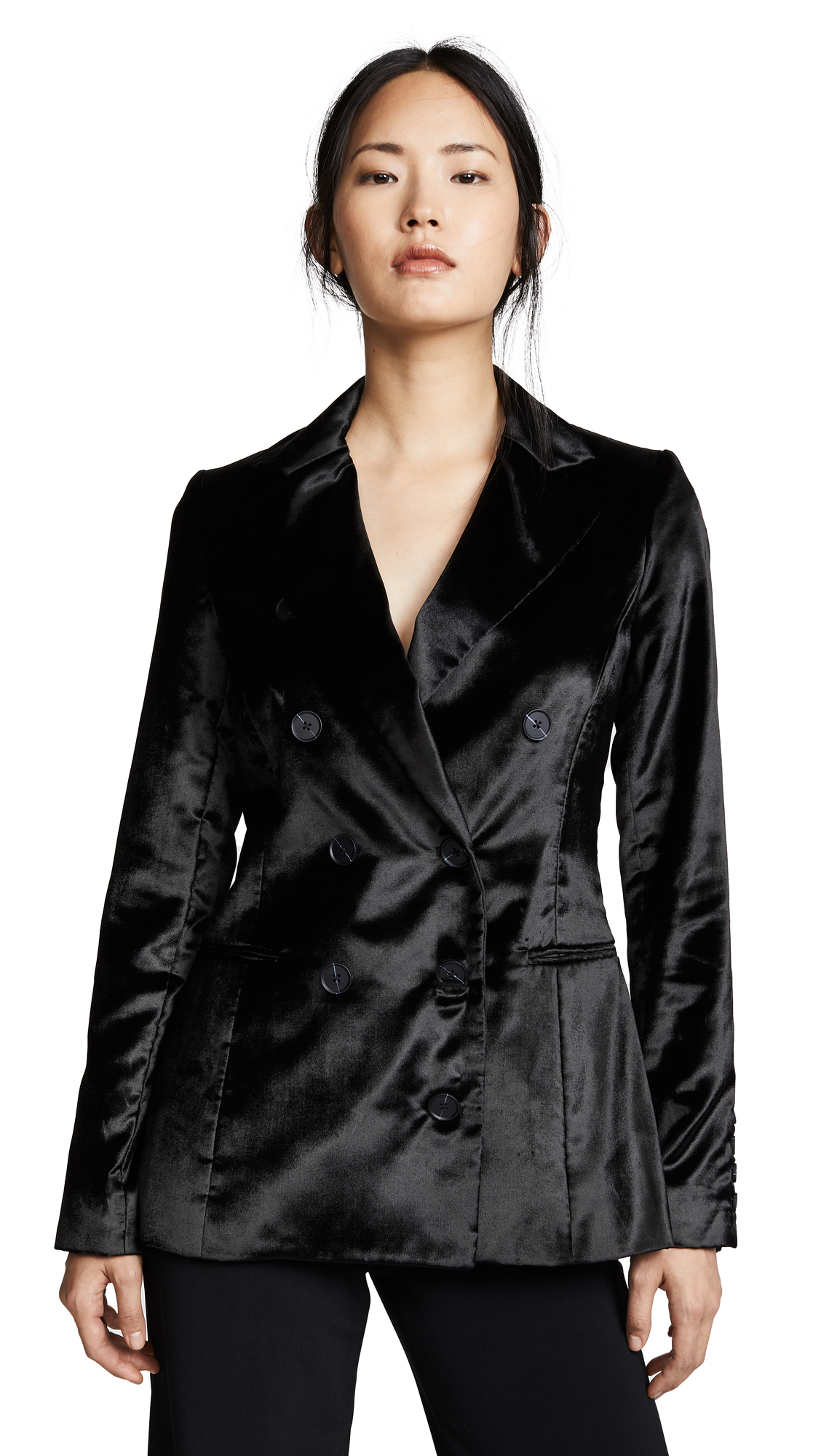 Cushnie Et Ochs FITTED DOUBLE BREASTED BUTTON JACKET