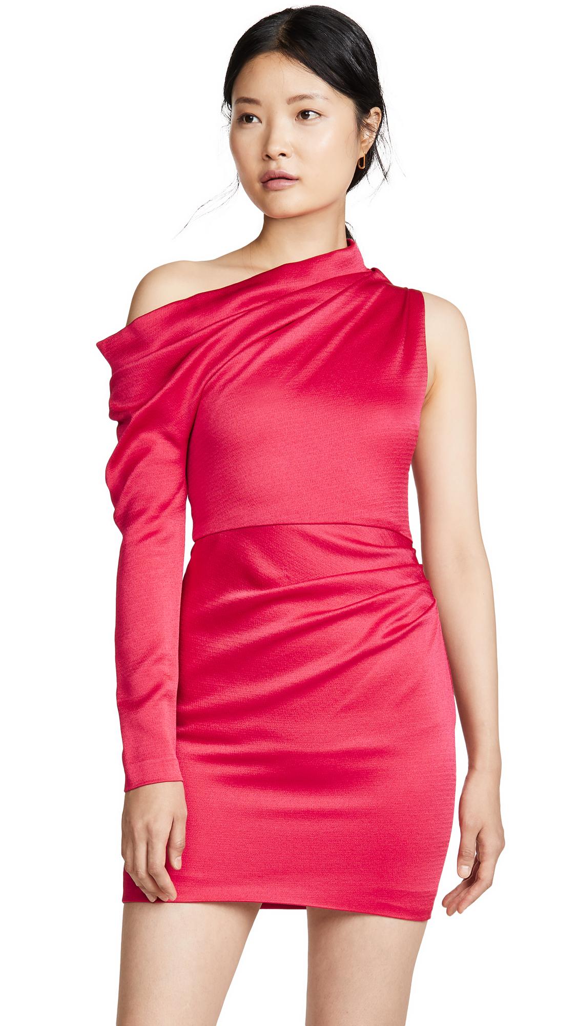 Buy Cushnie online - photo of Cushnie Off Shoulder Single Sleeve Mini Dress
