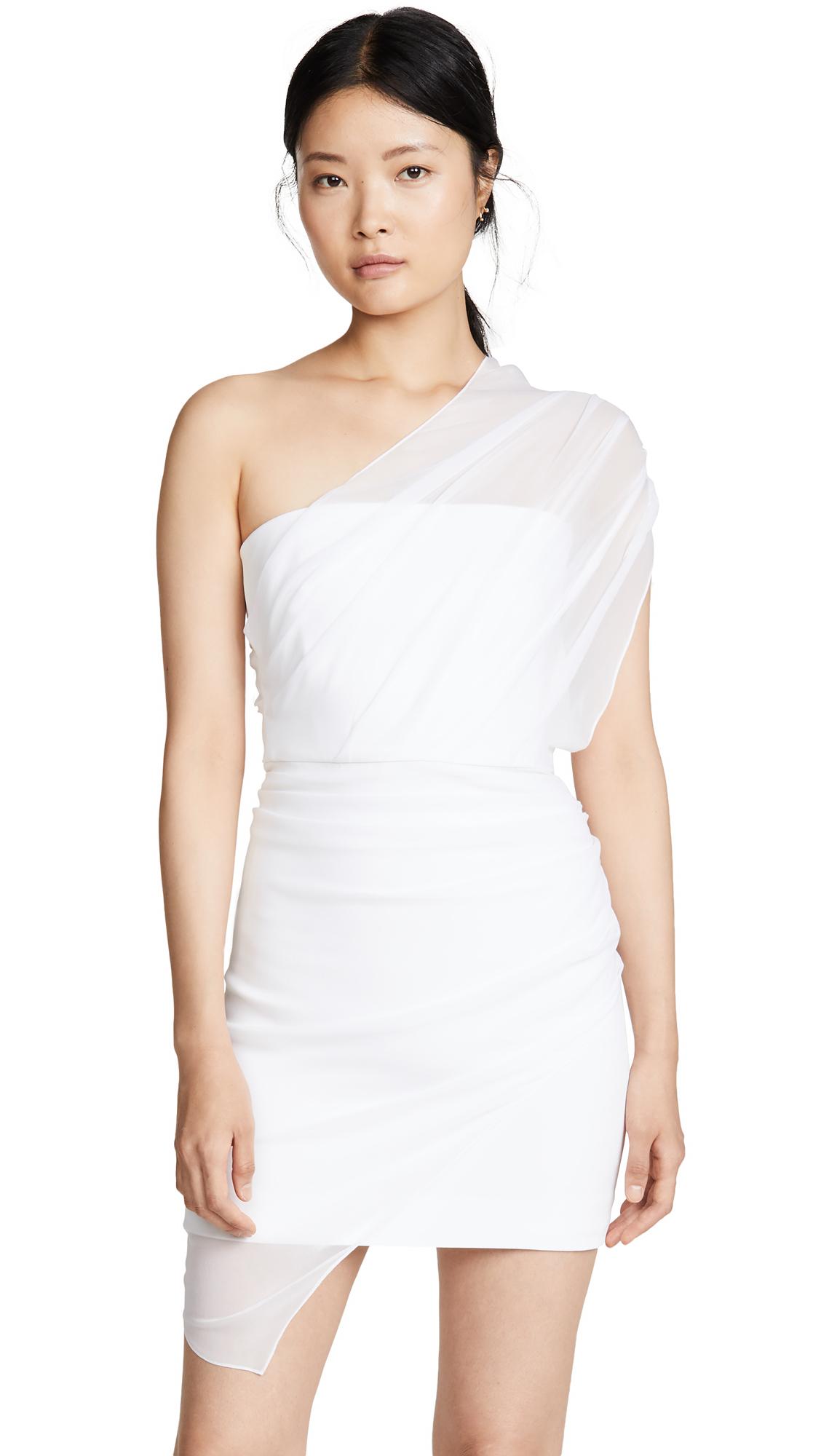 Buy Cushnie Strapless Mini Dress with Draped Chiffon Overlay online beautiful Cushnie Dresses, Strapless