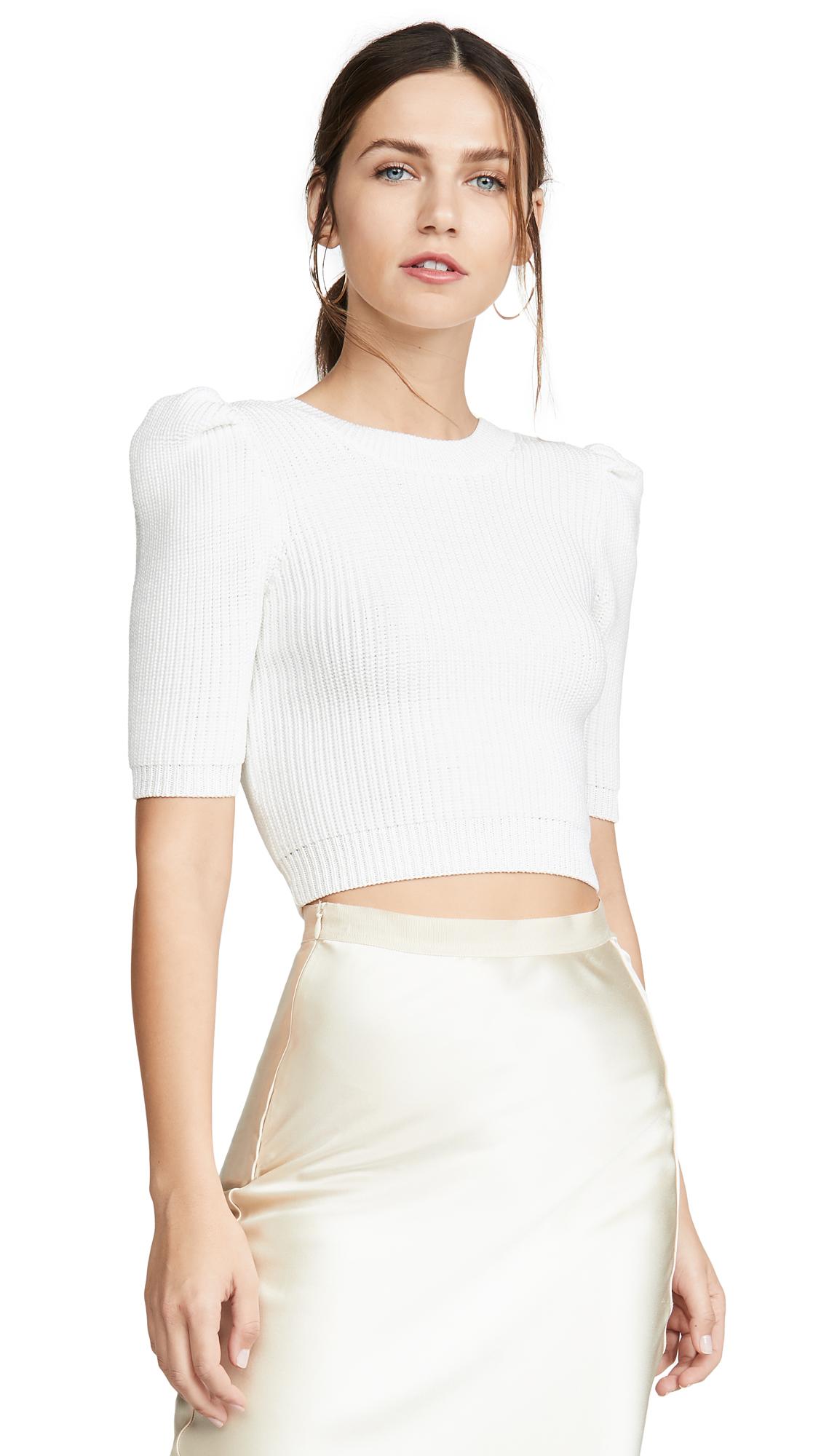 Buy Cushnie online - photo of Cushnie Cropped Pleated Knit Top