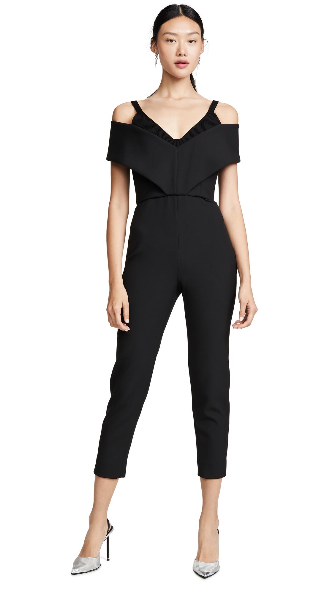 Buy Cushnie online - photo of Cushnie Off Shoulder Cropped Jumpsuit