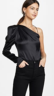 Cushnie One Shoulder Fitted Top
