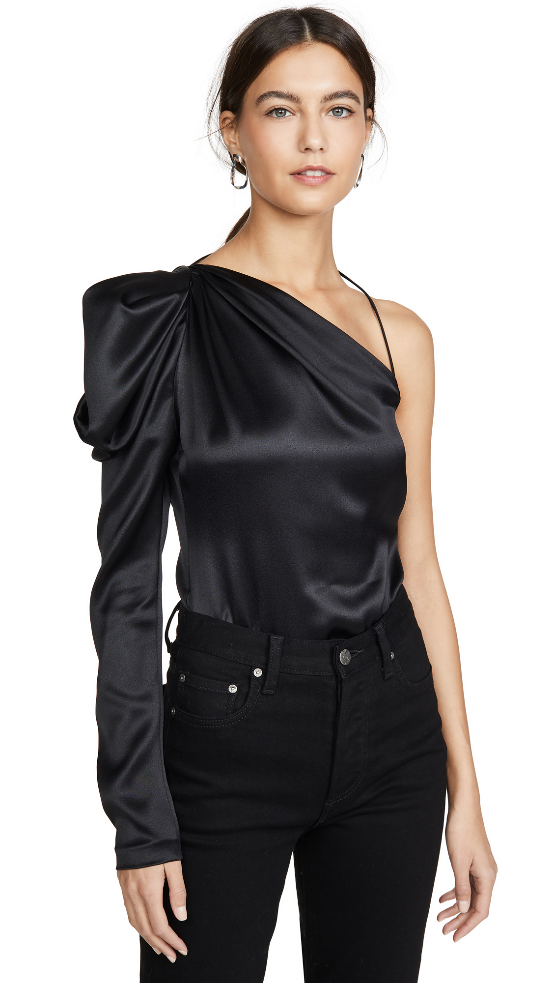 Buy Cushnie online - photo of Cushnie One Shoulder Fitted Top