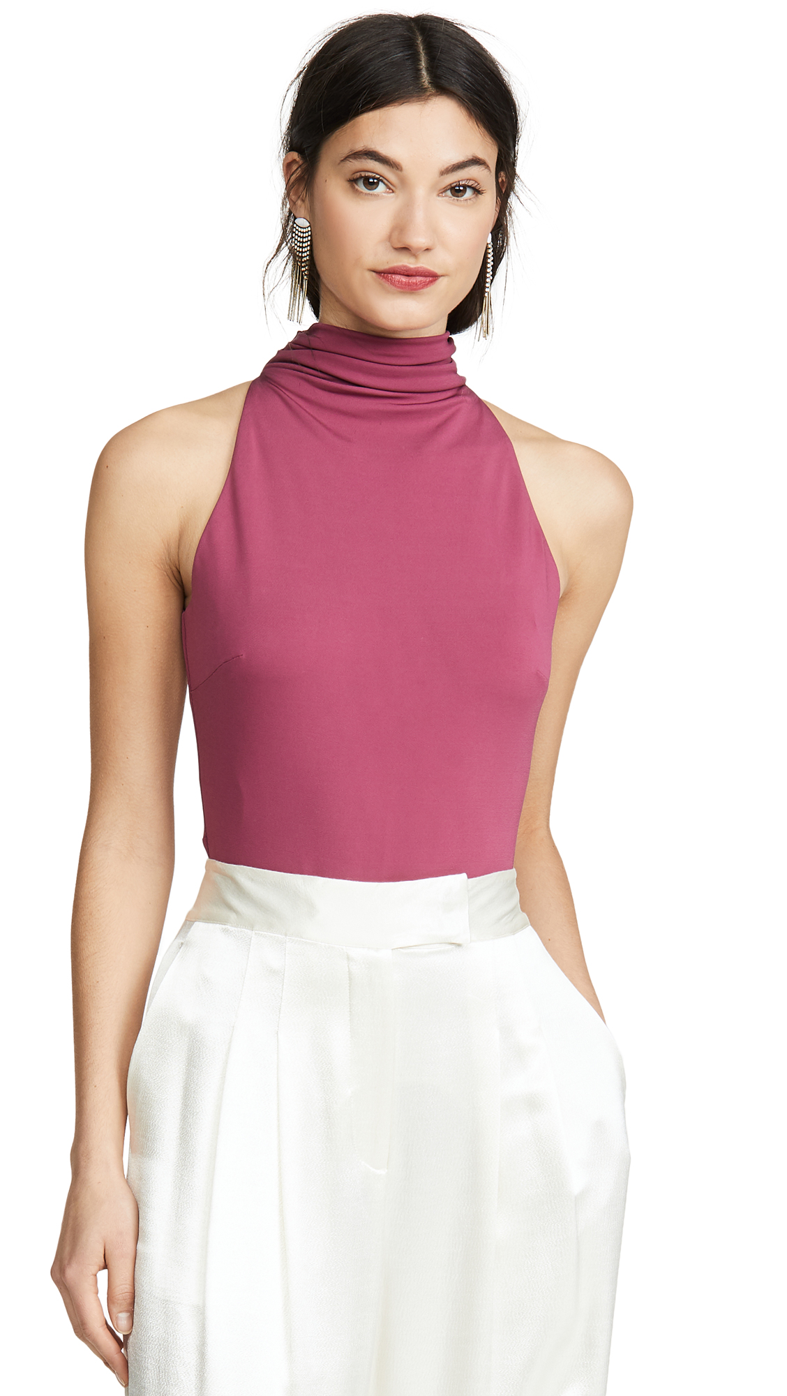 Buy Cushnie online - photo of Cushnie High Neck Thong Bodysuit