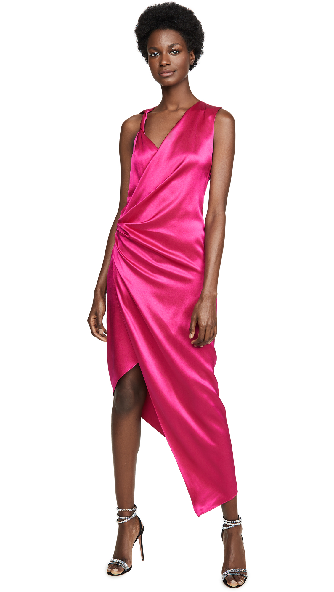 Buy Cushnie Sleeveless Plunging Dress with Draped Bodice and Hem online beautiful Cushnie Dresses, Strapless