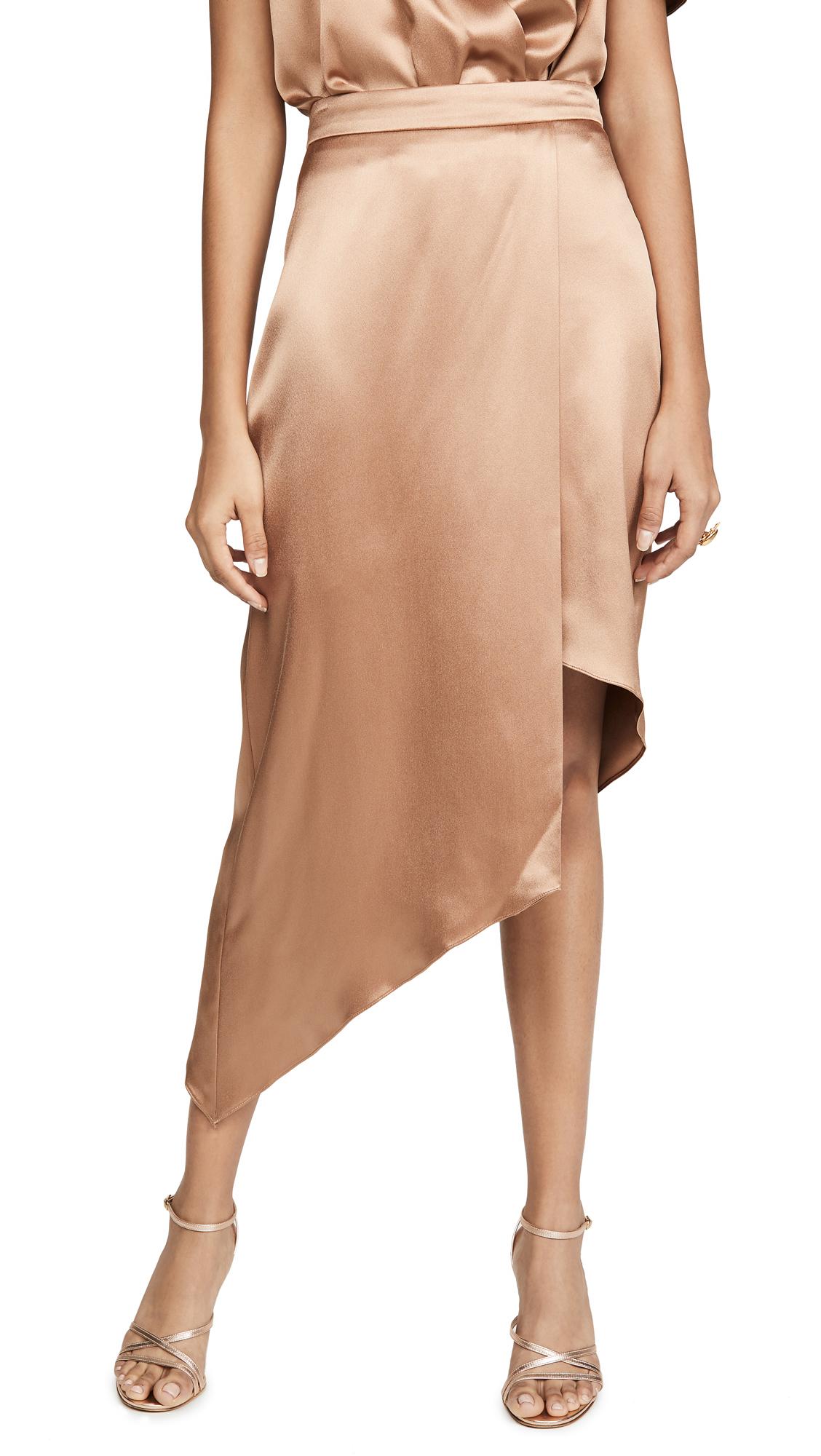 Buy Cushnie online - photo of Cushnie High Waist Skirt with Asymmetrical Hem