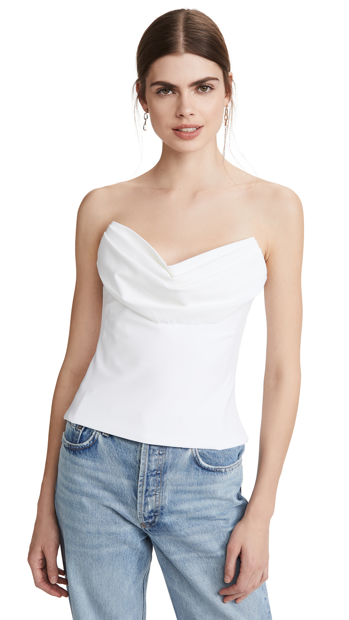 Cushnie Strapless Corset Top with Drape at Bust - 20% Off Sale