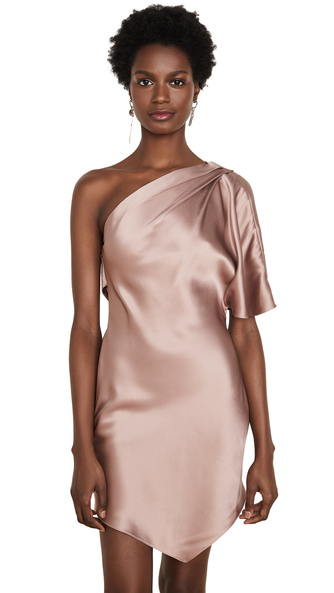 Buy Cushnie One Shoulder Mini Dress with Cowl and Crystal Chain online beautiful Cushnie Dresses, Strapless