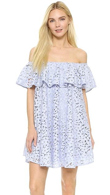 Cynthia Rowley Lace Off Shoulder Dress