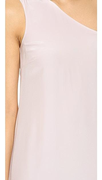 Cynthia Rowley Ruffle One Shoulder Dress