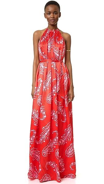 Cynthia Rowley Paisley Halter Gown
