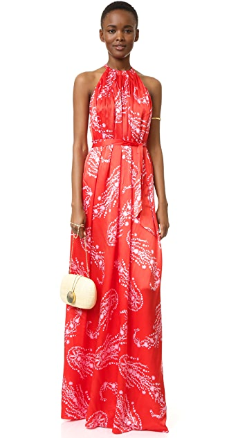Cynthia Rowley Paisley Halter Gown