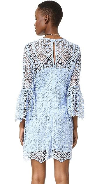 Cynthia Rowley Floral Mosaic Long Sleeve Dress