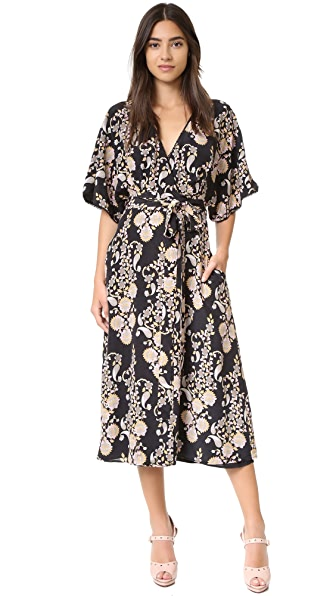 Cynthia Rowley Ornate Wrap Dress - Black