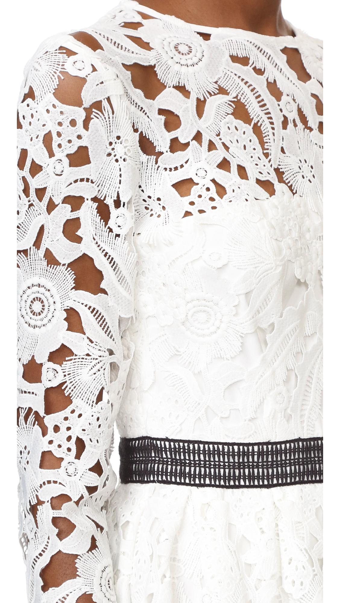 a6fdeb7708 Cynthia Rowley Wild Flower Lace Dress