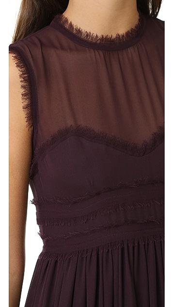 Cynthia Rowley Raw Edge Ruffle Dress