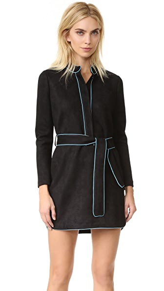 Cynthia Rowley Ultrasuede Belted Dress