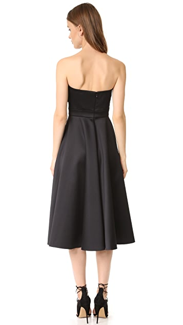 Cynthia Rowley Strapless Tea Length Dress