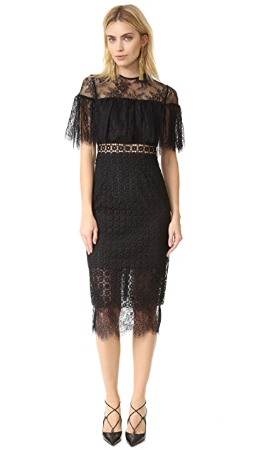 Cynthia Rowley Geo Lace Midi Dress
