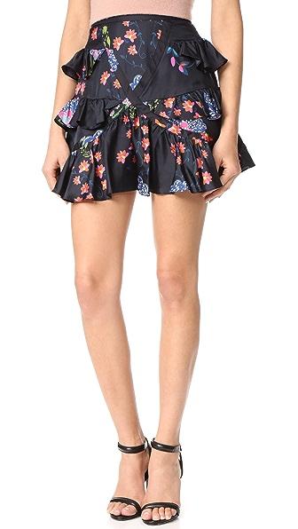 Cynthia Rowley Multi Ruffle Skirt - Black