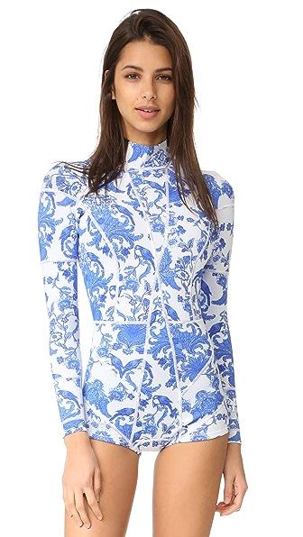 Cynthia Rowley Print Wetsuit at Shopbop