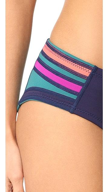Cynthia Rowley Colorblock Bikini Bottoms
