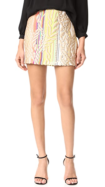 Cynthia Rowley Rainbow Metallic Skirt