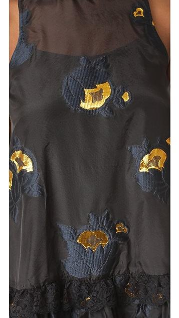 Cynthia Rowley Metallic Floral Night Dress