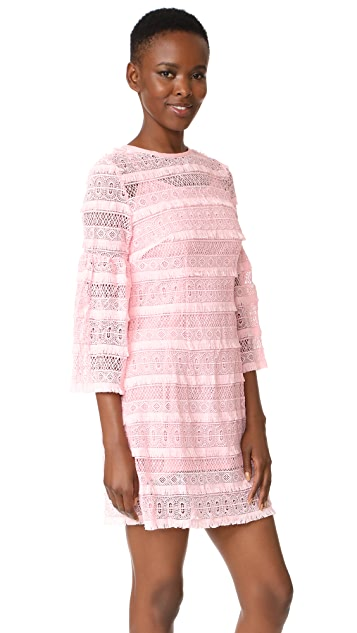 Cynthia Rowley Eyelet Bell Sleeve Dress