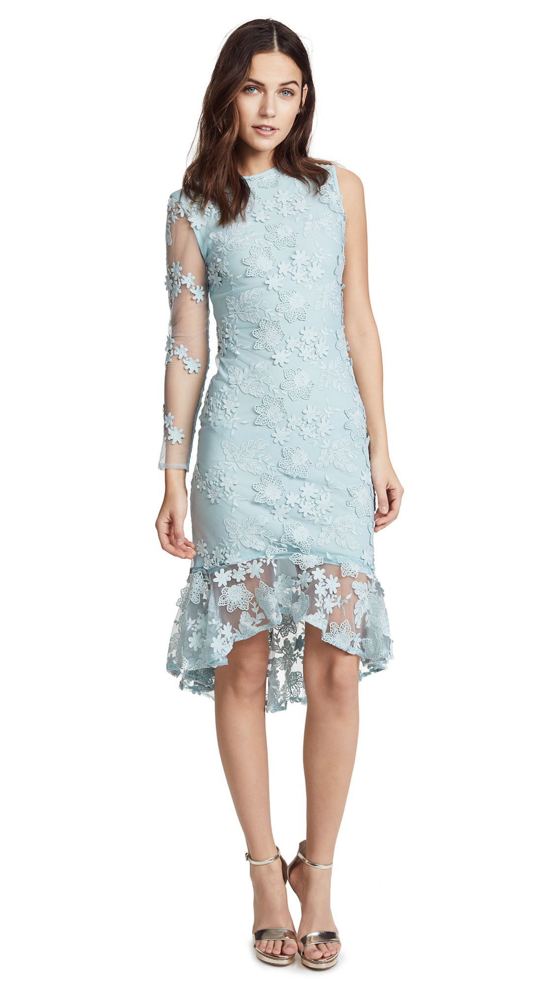 Cynthia Rowley Skydive Lace Midi Dress In Frost