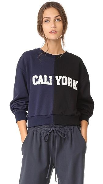 Cynthia Rowley Cali York Sweatshirt In Navy Black