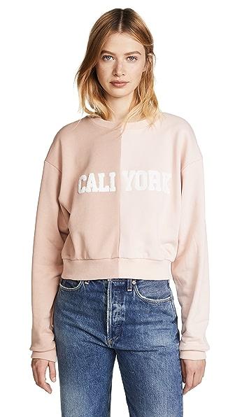 Cynthia Rowley Cali York Sweatshirt In Tan/Blush