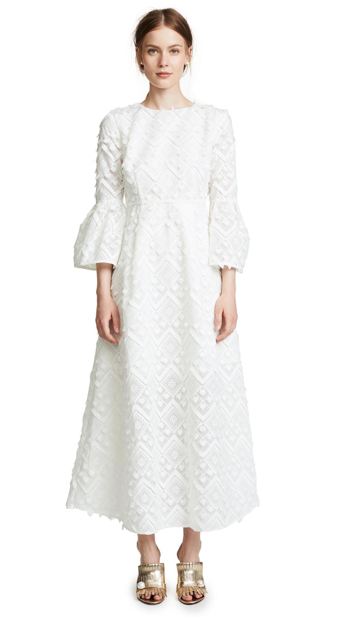 Cynthia Rowley Romy Lace Bell Sleeve Dress