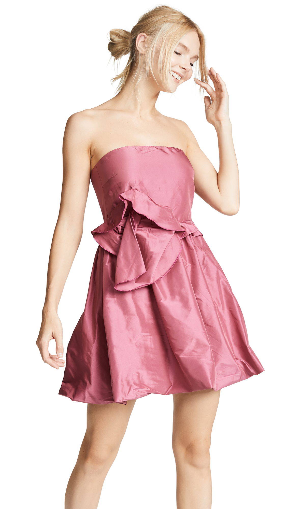 Cynthia Rowley Babydoll Mini Dress - Rose