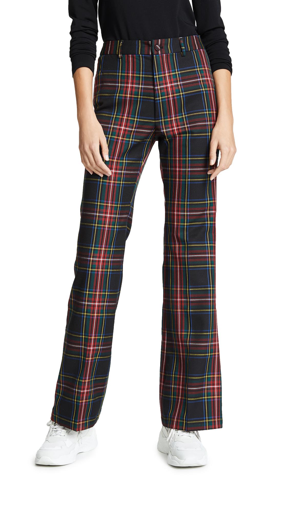 Cynthia Rowley Plaid Wool Pants - Plaid