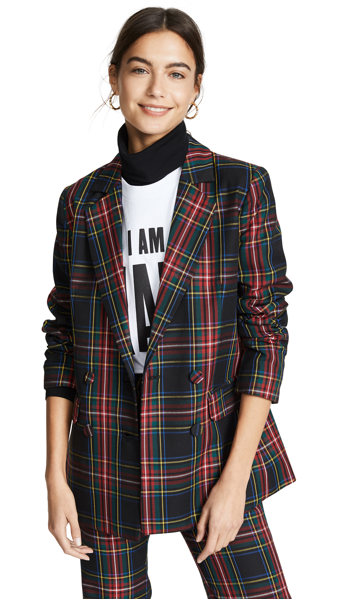 Cynthia Rowley Plaid Blazer - Plaid