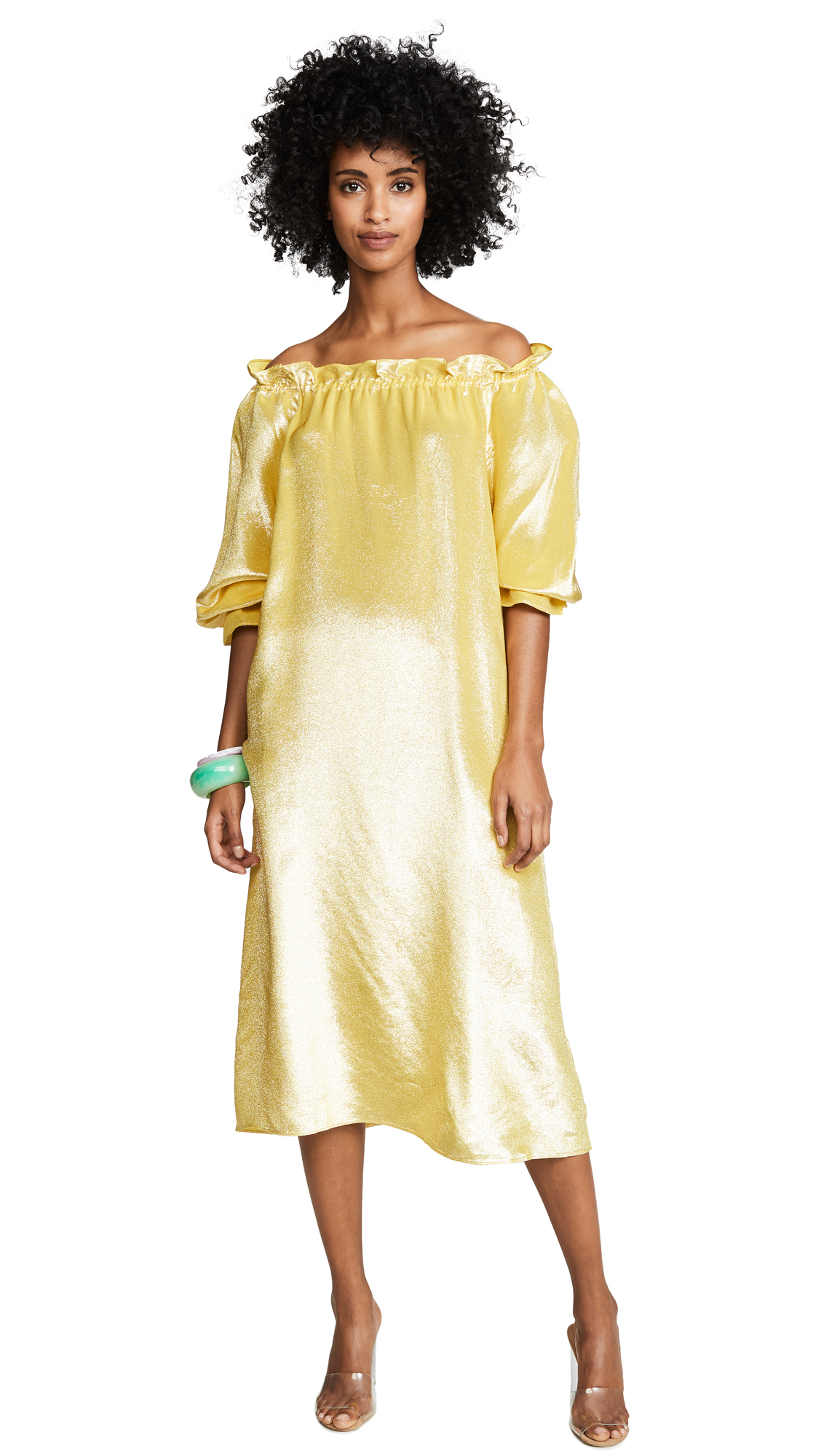 Cynthia Rowley Off the Shoulder Long Sleeve Dress