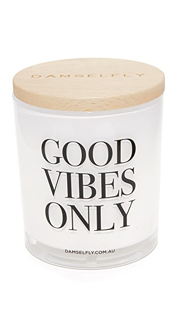 Damselfly Good Vibes Only XL Candle
