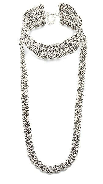 DANNIJO Yarminiah Necklace - Ox Silver
