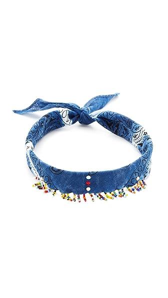 DANNIJO Amabel Choker Necklace - Indigo Blue/Multi