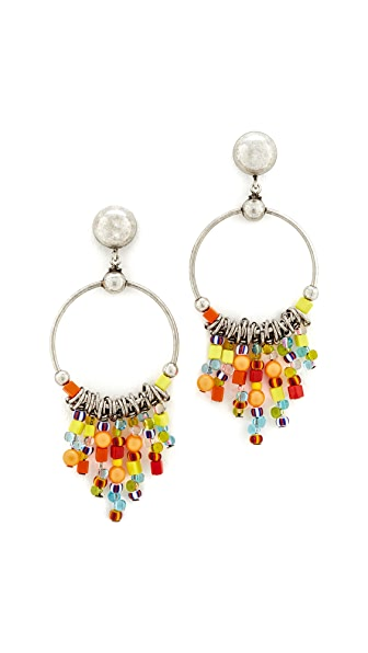 DANNIJO Amor Earrings - Ox Silver/Multi