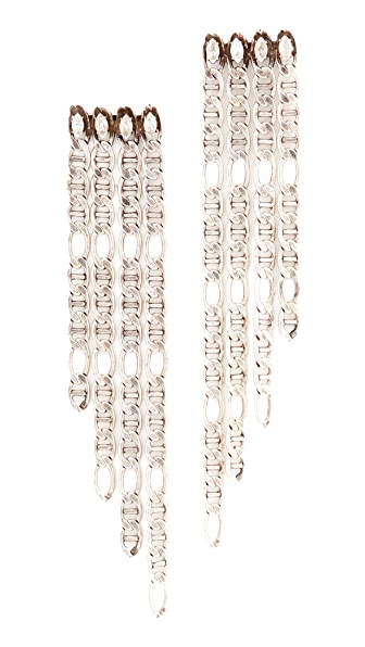DANNIJO Yvonne Earrings - Ox Silver