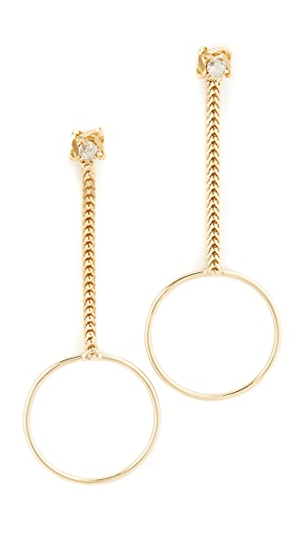 DANNIJO Yandel Drop Chain Earrings  in Metallic