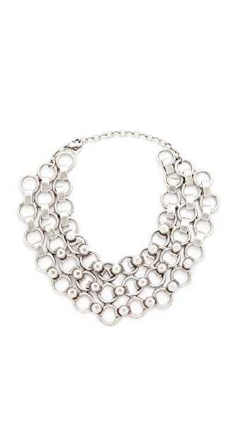 DANNIJO Ryder Choker Necklace In Silver Ox