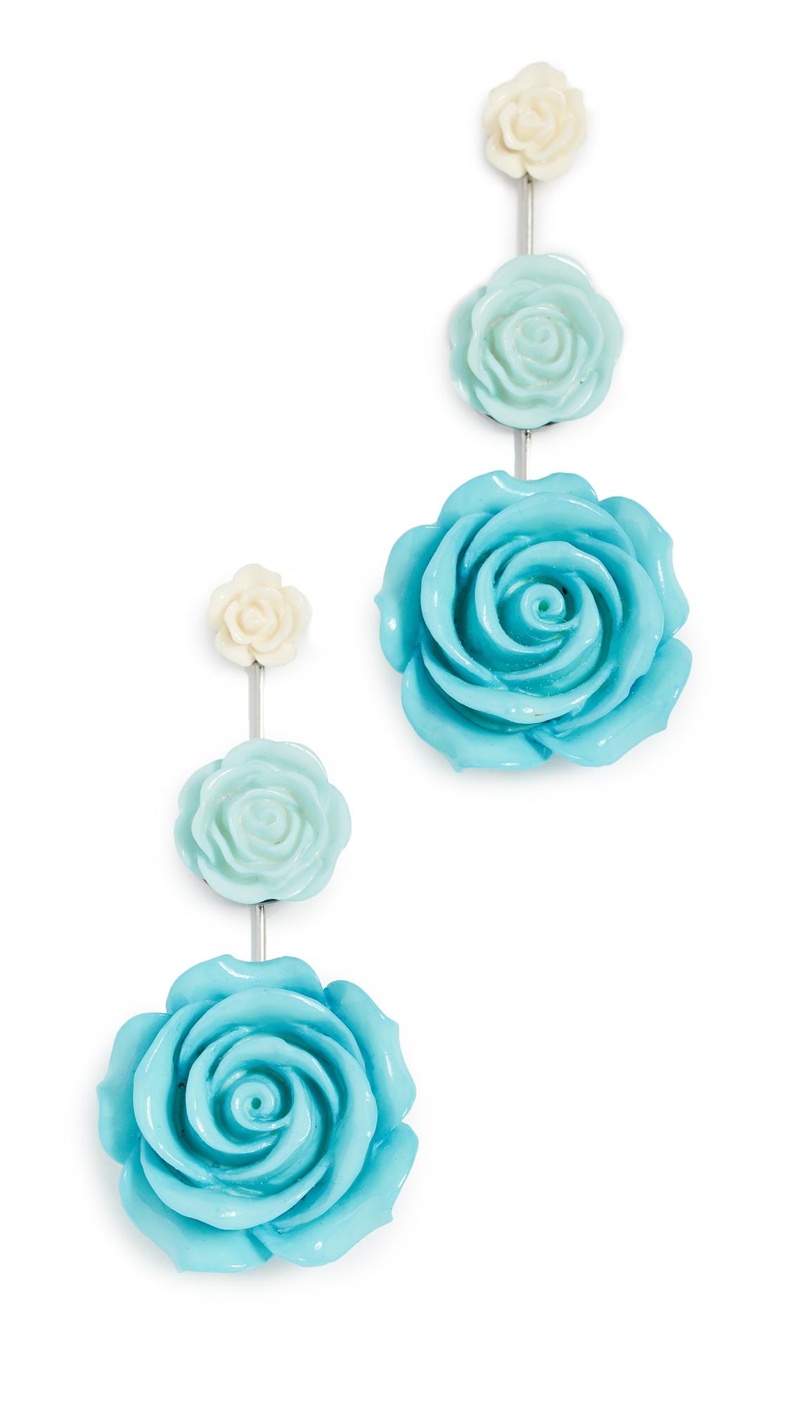 DANNIJO Beck Earrings In Turquoise