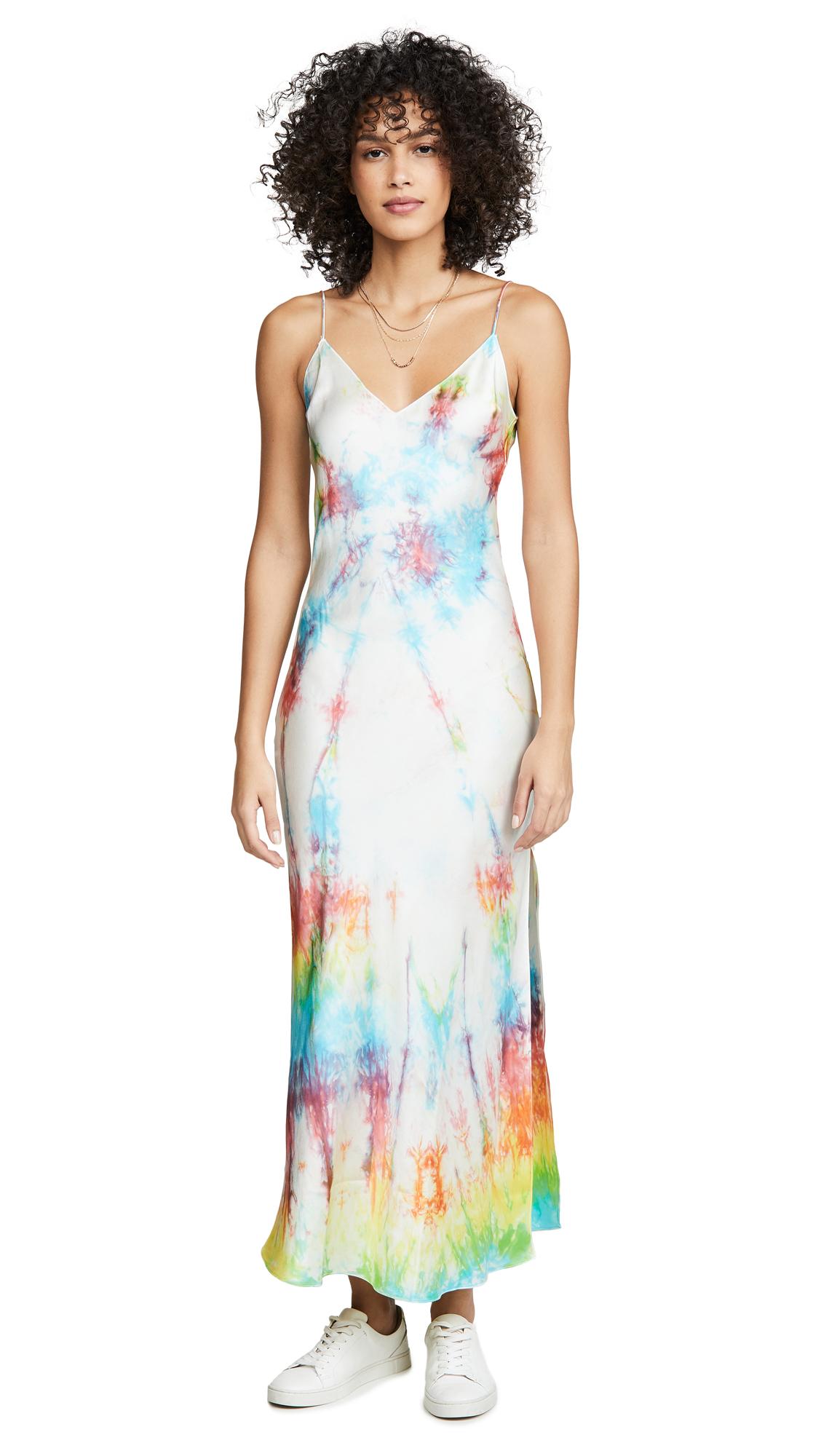 Buy DANNIJO online - photo of DANNIJO Tie-Dye Slip Dress