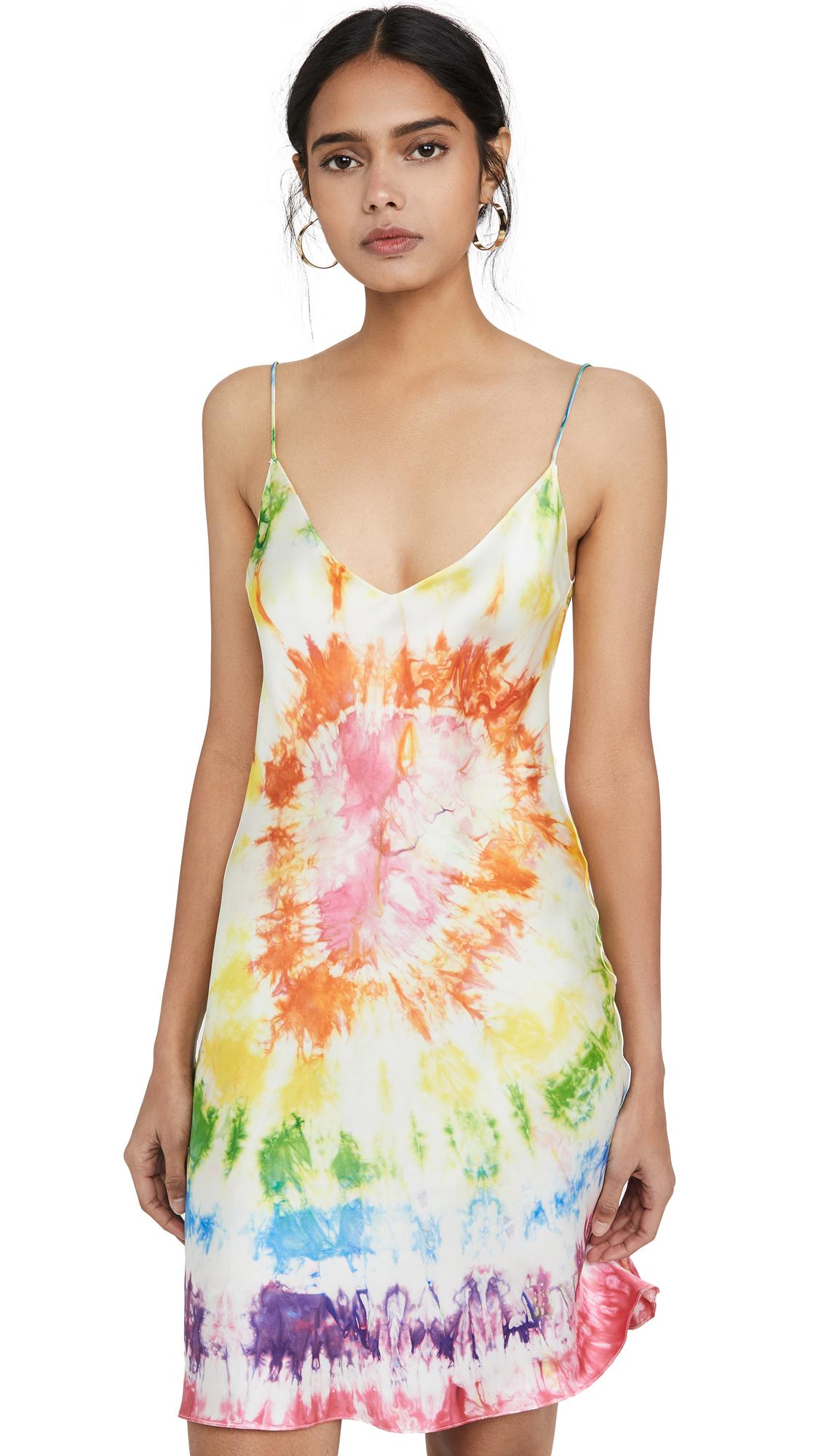 Buy DANNIJO online - photo of DANNIJO Tie Dye Heart Mini Dress