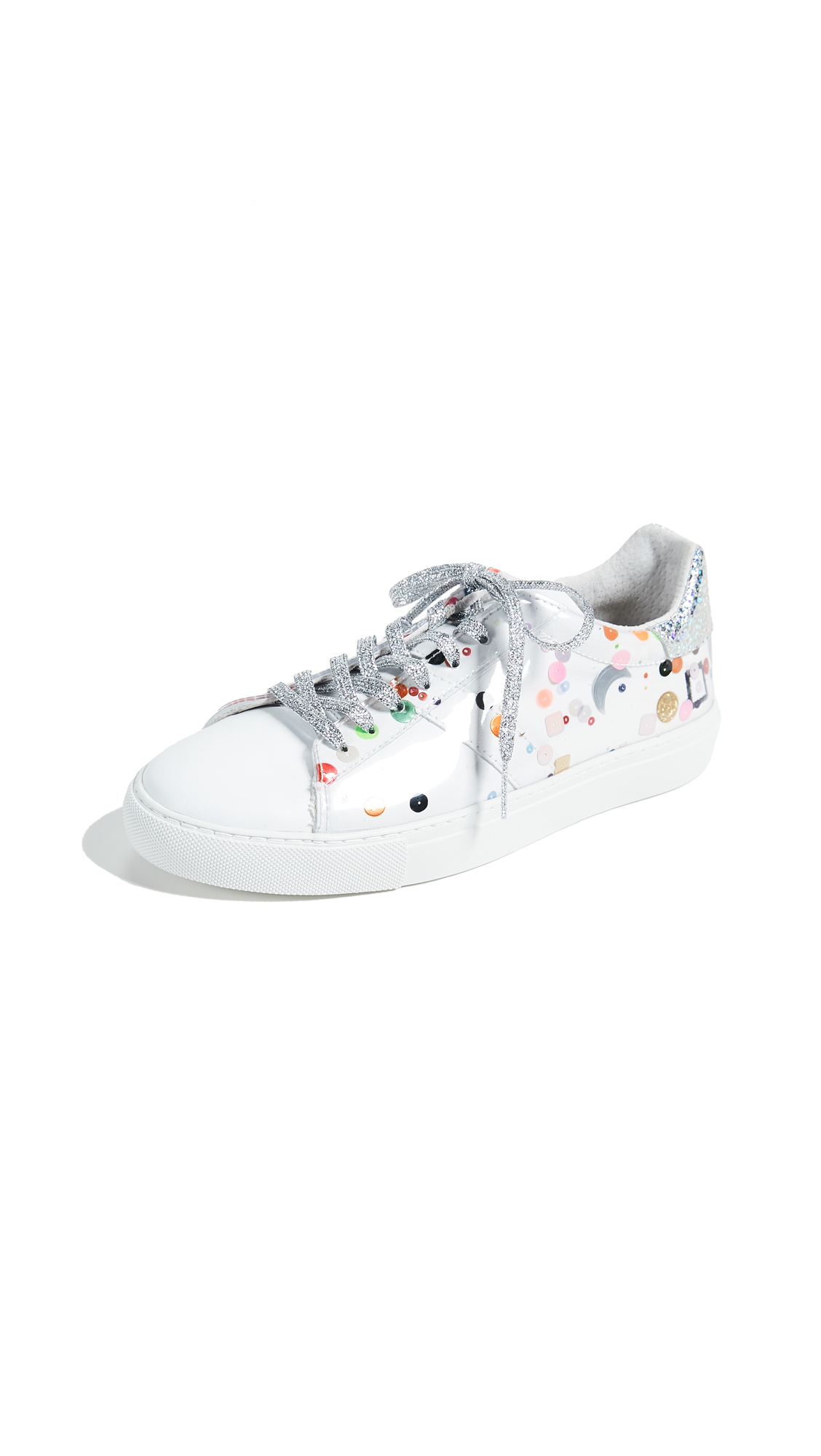 D.A.T.E. Newman High Tech Sneakers - Paillette Transparent