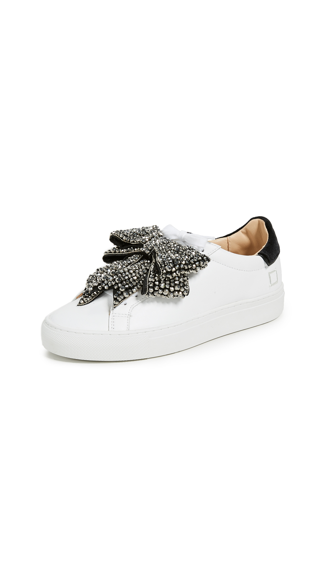 D.A.T.E. Newman Bow Strass Sneakers - White