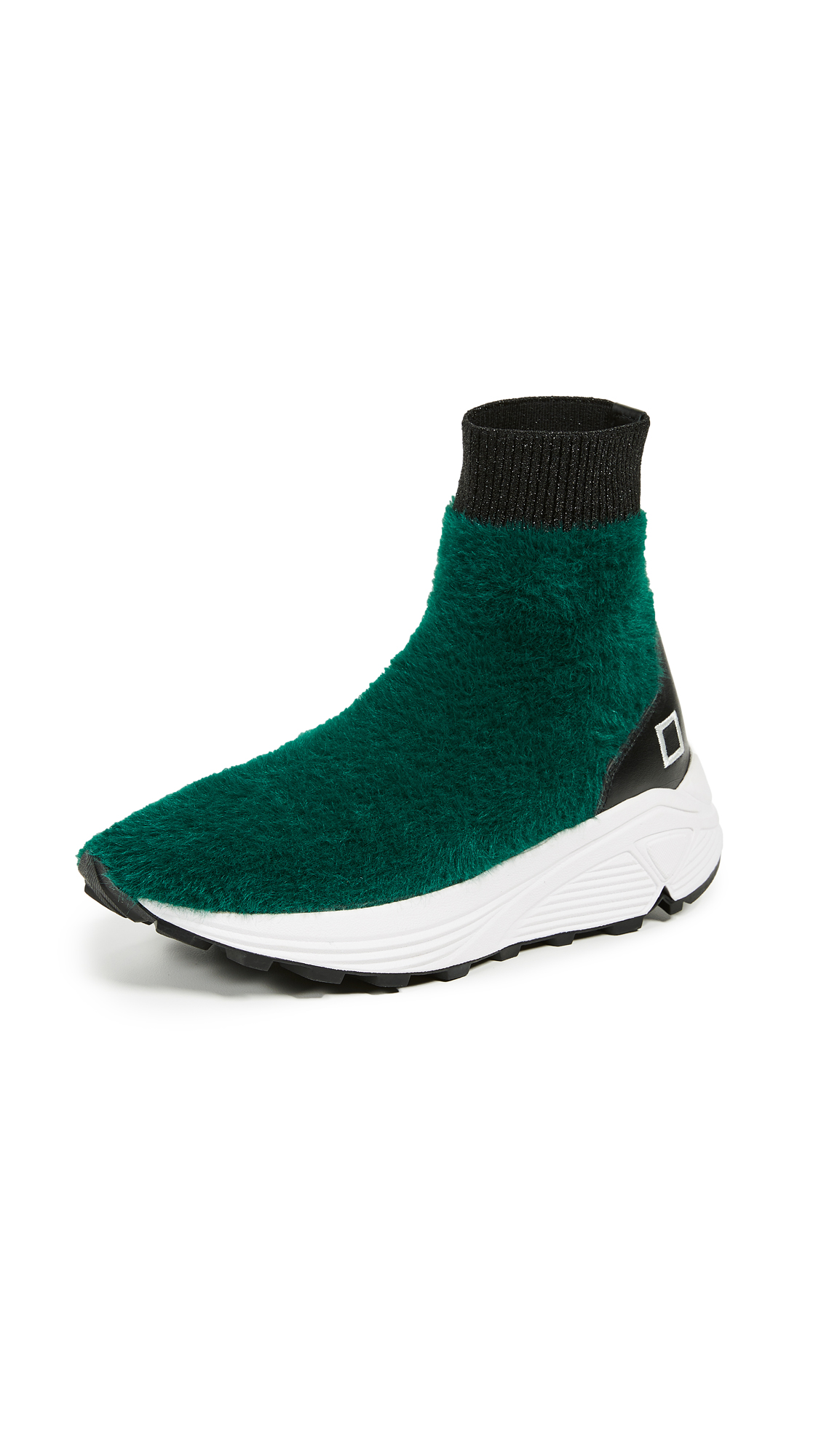 D.A.T.E. Dafne Fur Sneakers - Green